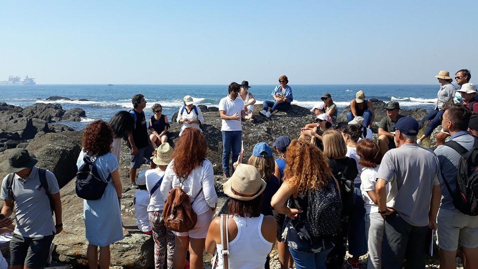 195 docentes do Agrupamento de Escolas de Santa Maria Maior em ação de formação sobre conteúdos científicos dos Monumentos Naturais da costa de Viana do Castelo