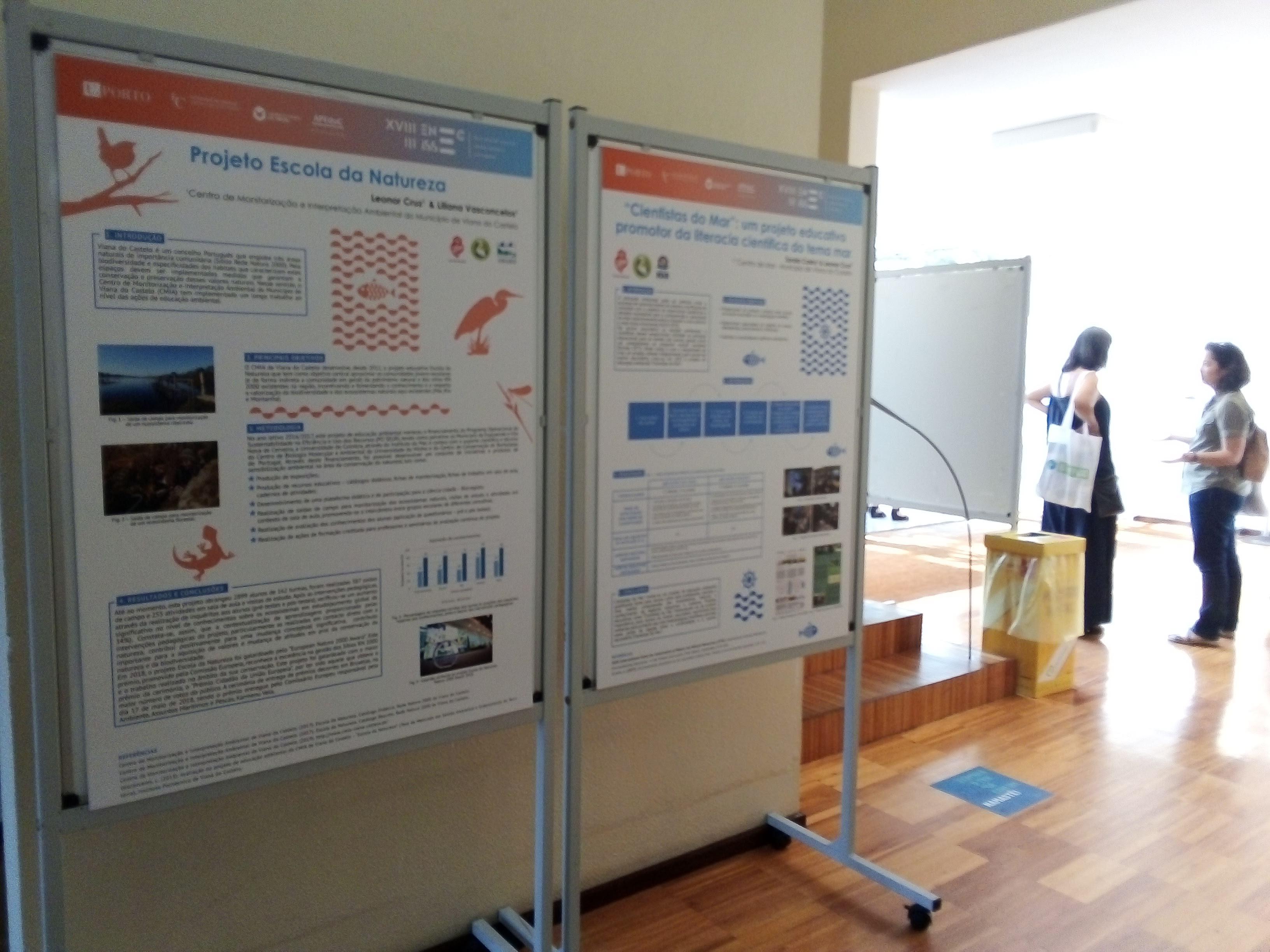 Centro de Monitorização e Interpretação Ambiental e Centro de Mar em encontros nacionais sobre ensino das ciências e biologia marinha