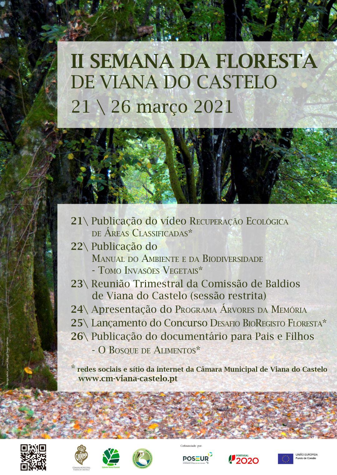 II Semana da Floresta de Viana do Castelo promovida de 21 a 26 de março