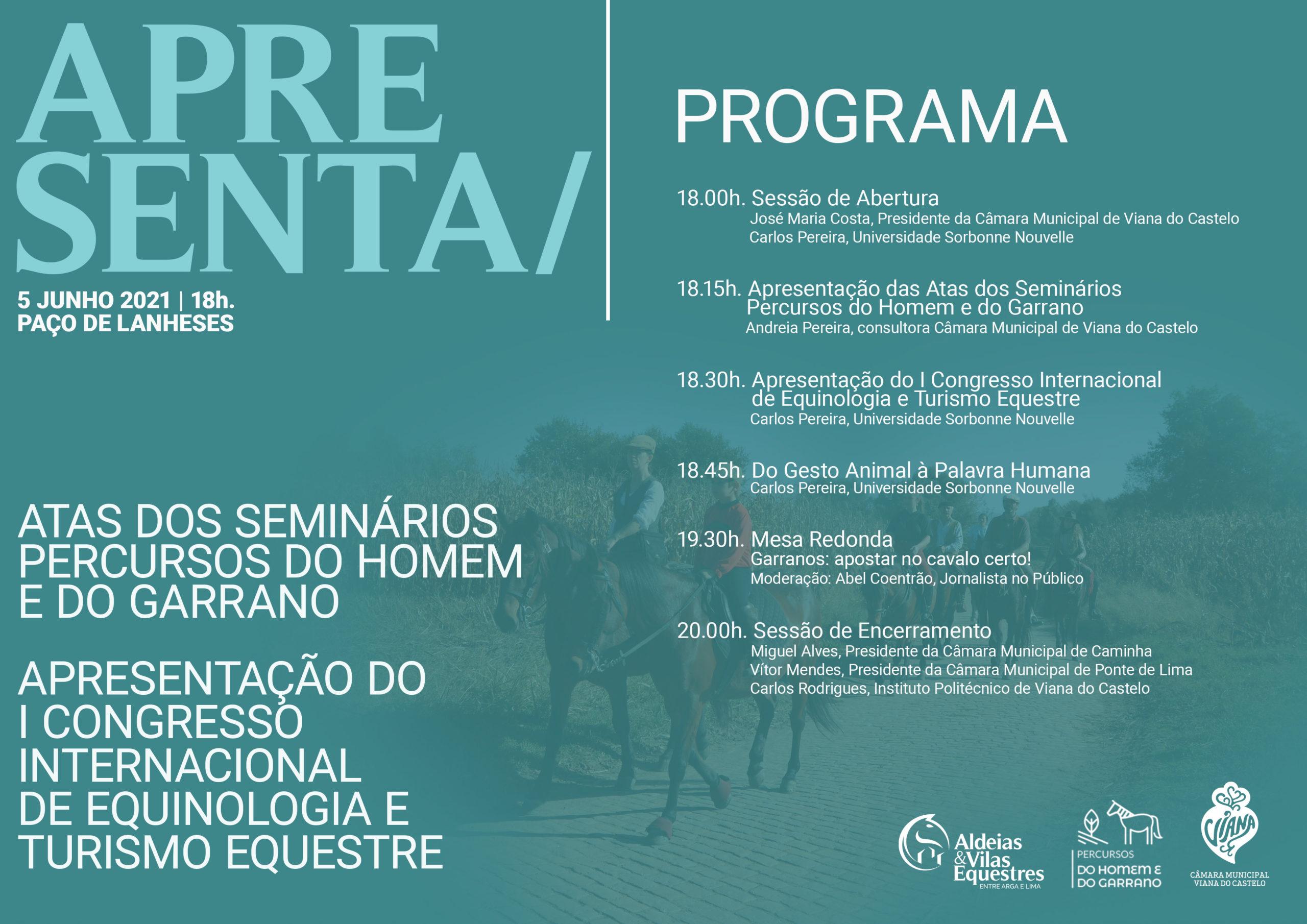 Apresentação do I Congresso Internacional de Equinologia e Turismo Equestre